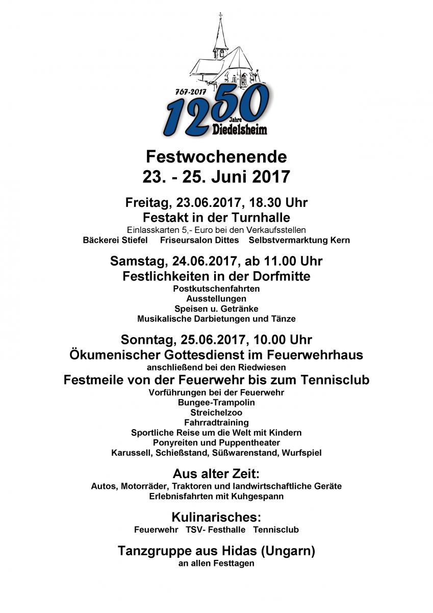 1250 Jahre Diedelsheim: Jubiläumswochenende im Stadtteil Diedelsheim ...