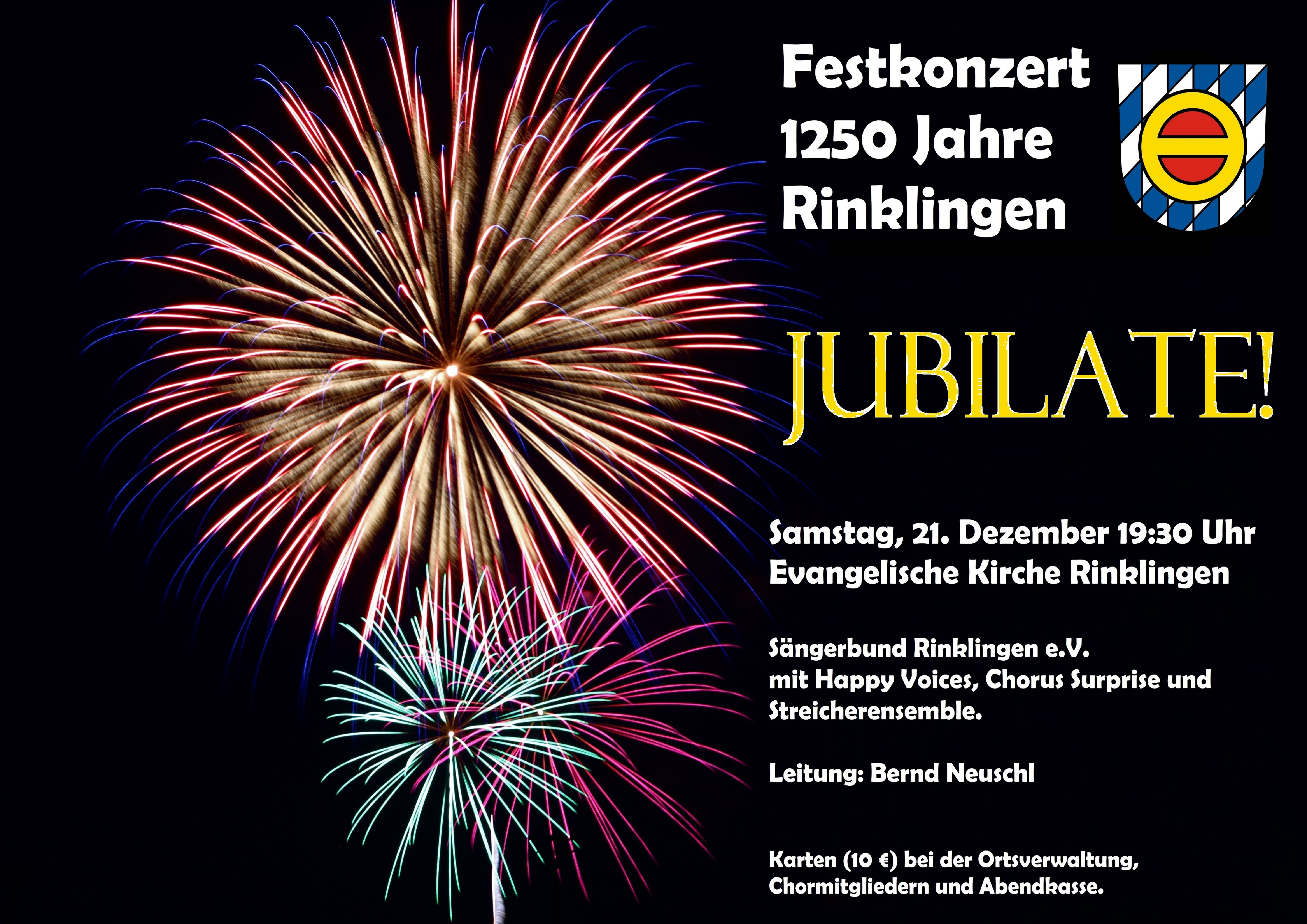 """Feierliches Festkonzert zum Dorfjubiläum """"1250 Jahre Rinklingen"""""""