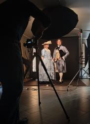 Produktion zeitgenössischer Fotoserie im Stadtmuseum