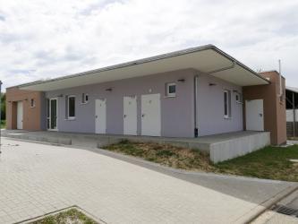 Neues Sanitär- und Umkleidegebäude beim Kunstrasenplatz in Diedelsheim
