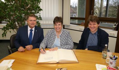 OB Wolff, Regierungspräsidentin Sylvia M. Felder und Bürgermeister Nöltner