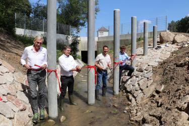 Feierliche Übergabe der Hochwasserschutzmaßnahme in Ruit