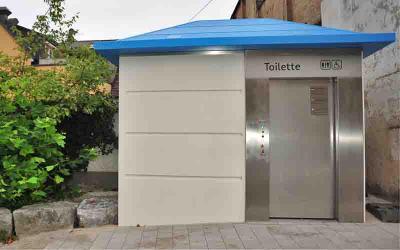 Bild öffentliche Toilette