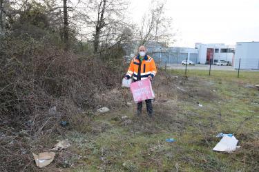 """Aktionstag """"Sauberes Bretten"""" mit Baubetriebshofsleiter Stefan Lipps"""