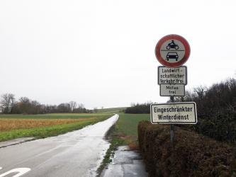 Alte Poststraße zwischen Diedelsheim und Gondelsheim
