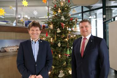 Oberbürgermeister Martin Wolff (rechts) und Bürgermeister Michael Nöltner