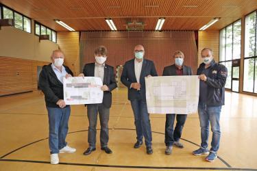 Freude über die geplante Sanierung und Erweiterung der Neibsheimer Talbachhalle