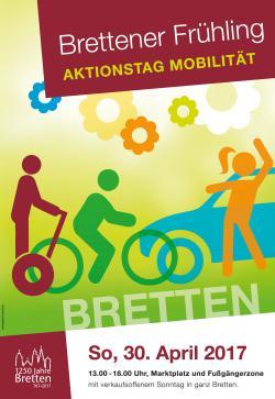 Flyer zum Frühlingsmarkt mit dem Thema Mobilität als Schwerpunkt