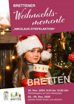 Plakat Nikolaus-Stiefelaktion